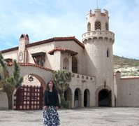 Rock Climbing Photo: Visiting Scotty's Castle on our way to our back co...