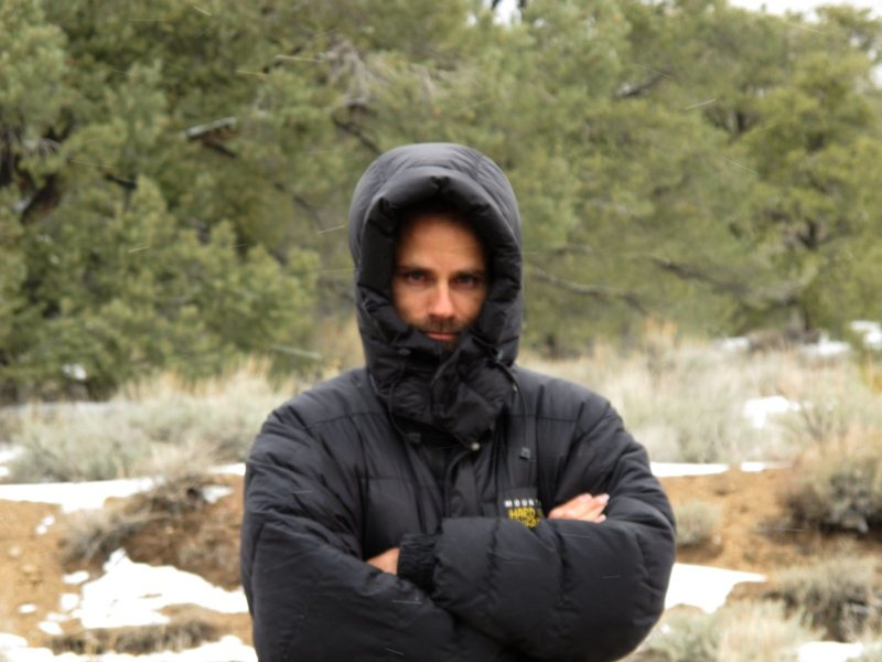 Rock Climbing Photo: It snowed on us in Death Valley on the north pass....
