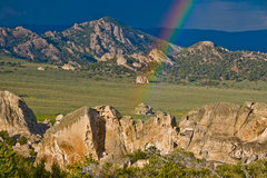 Rock Climbing Photo: Flaming Rock Rainbow