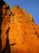 Rock Climbing Photo: Keen Butterworth on Crack From Hell. (5.10-)