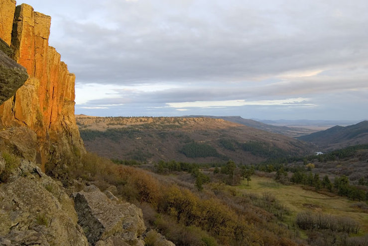 Rock Climbing Photo: Sunset at Sugarite