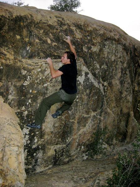 Rock Climbing Photo: Grabbing the pinch thing.