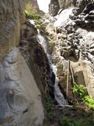 Rock Climbing Photo: One of McElvoy Canyon's beautiful waterfalls. I be...