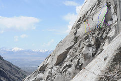 Rock Climbing Photo: The Perseverance Wall, directly to the southwest o...