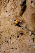 Rock Climbing Photo: The crux move, felt really low percentage to me.