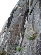 Rock Climbing Photo: The third, and hairy, 5.9 arete pitch