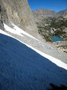 Rock Climbing Photo: the often firm approach snowfield
