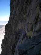 Rock Climbing Photo: exposed 4th class traverse