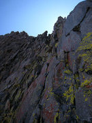 Rock Climbing Photo: 5.6 chimney on the back side of Ibrium