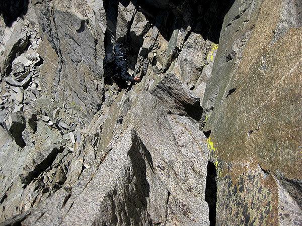 Rock Climbing Photo: downclimb to N Pal