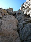 Rock Climbing Photo: n pal chimney downclimb