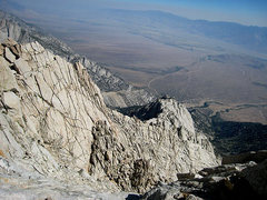 Rock Climbing Photo: looking back down toward the owens valley