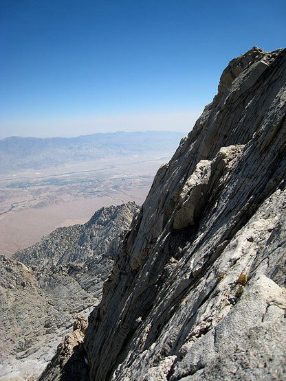 Rock Climbing Photo: final slabs to the summit