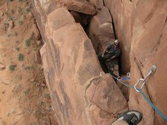 Rock Climbing Photo: View of the last belay from halfway up the last pi...