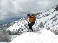 Rock Climbing Photo: Late april skiing in Mt. Rose Wilderness Lake Taho...