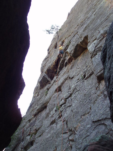 Rock Climbing Photo: High on the first pitch.