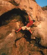Rock Climbing Photo: Eric Foltz giving Annabel a go.