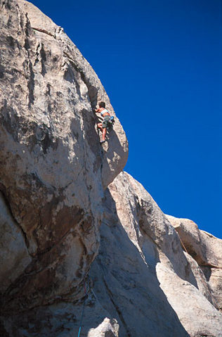 Rock Climbing Photo: Lisa Pritchett leading Overseer