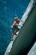 Rock Climbing Photo: Tony Moser leading Hairlip