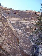 "Rock Climbing Photo: Fett after climbing the ""right"" crack, p..."