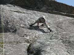 Rock Climbing Photo: One of the many difficult sections is here getting...
