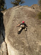 Rock Climbing Photo: Bryce starting the bouldery moves of Knobelty.  Yo...