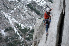 Rock Climbing Photo: JT on the FA