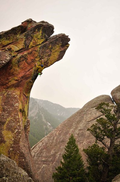Rock Climbing Photo: Andy Mann image of 'The Horn'.