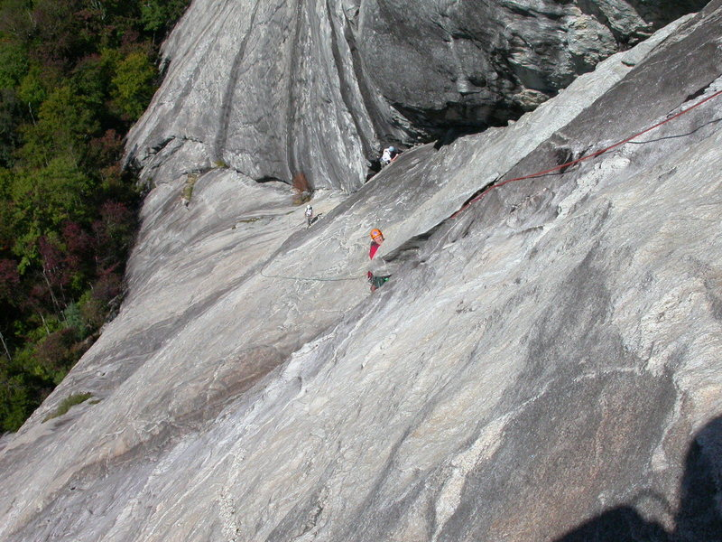 Rock Climbing Photo: Fathom - 4th belay