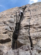 Rock Climbing Photo: Climbing Trad in the gorge? Yep Leave No Trace, Ow...