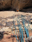 Rock Climbing Photo: Watch your rope at the first belay, tons of stuff ...