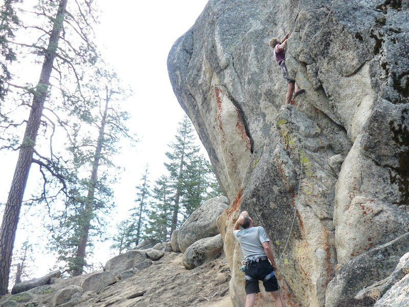 Rock Climbing Photo: Tucker Tech and Frank Bentwood at Fawnskin Tower