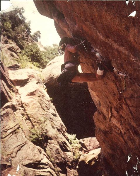 Rock Climbing Photo: John Baldwin early Free Ascent of Paligap.