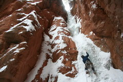 Rock Climbing Photo: Final of four pitches in Parowan, Utah