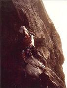 Rock Climbing Photo: John Baldwin leading Horangutan aka Johnny Belinda...