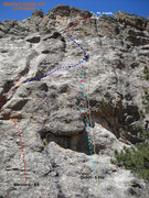 Rock Climbing Photo: Sparky's Cooler from the base of the route (standa...