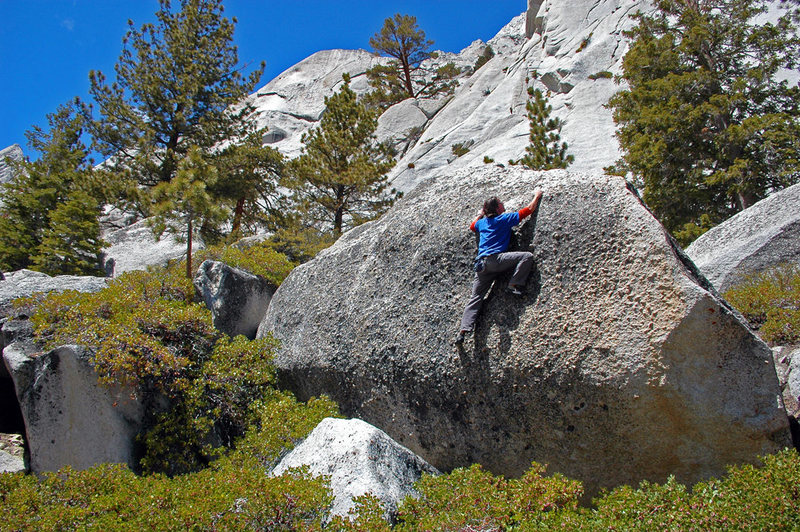 Knob-pullin' below Whitney Portal Buttress
