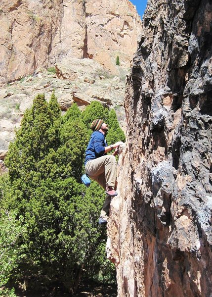 Rock Climbing Photo: Bob Robinson providing the beta :)