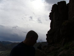 Rock Climbing Photo: Travis on North Table in Golden.