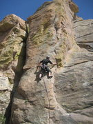 Rock Climbing Photo: Christian starting into the bolts of Stealth Made ...