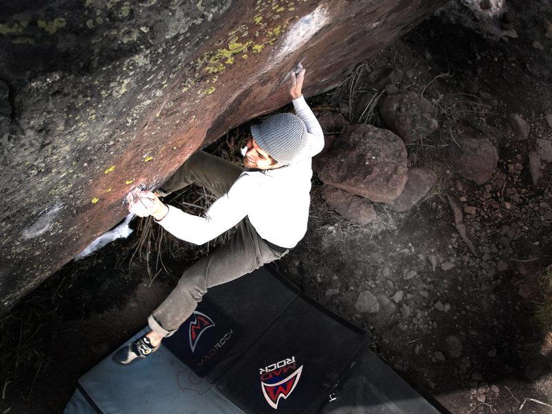 "Rock Climbing Photo: Jason Baker looking for ""Purity Control, V10...."