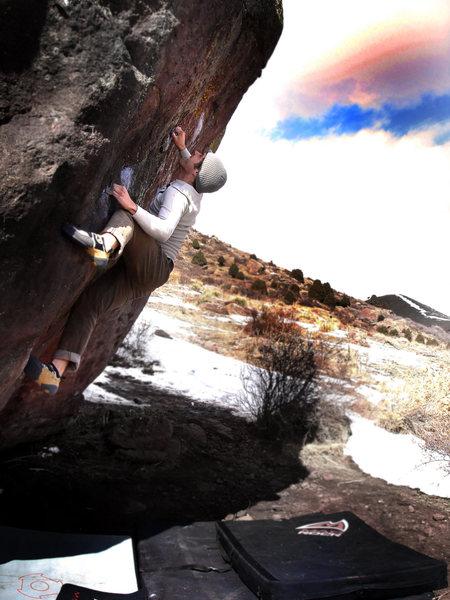 "Rock Climbing Photo: Jason Baker showing the love for ""Hickey's, V..."