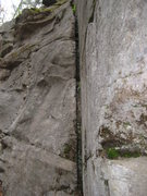 Rock Climbing Photo: There it is Half the route.Nice fat crack