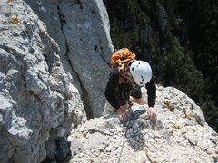 Rock Climbing Photo: Coming up to the summit of the Grande Pucelle out ...