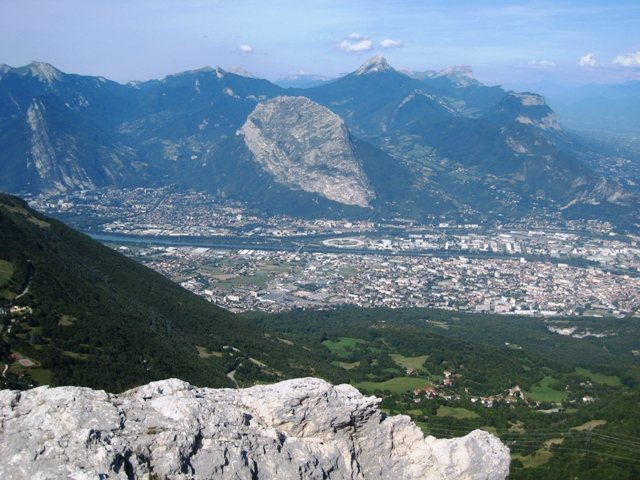 View of Grenoble from the summit of the Dent Gèrard