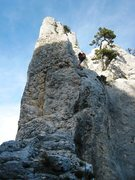 Rock Climbing Photo: Rappel from the Dent Gèrard back to the brèche T...