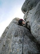 Rock Climbing Photo: The p girl climbs back up to the last up climb on ...