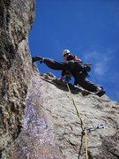 Rock Climbing Photo: EJ leads P4.