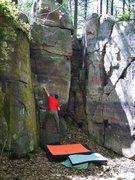 Rock Climbing Photo: Matt, so close!!