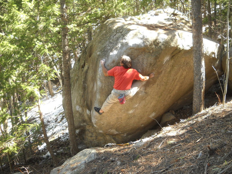 Rock Climbing Photo: Boulder Canyon Bouldering, Top 5, Horan's Boulder,...